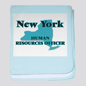 New York Human Resources Officer baby blanket