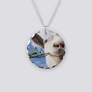 Weed Goat Necklace Circle Charm