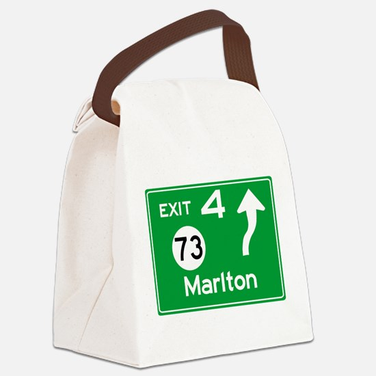 NJTP Logo-free Exit 4 Marlton Canvas Lunch Bag