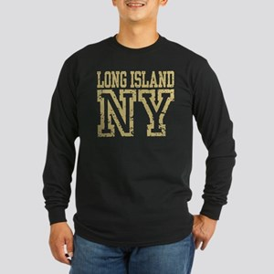 Long Island NY Long Sleeve Dark T-Shirt