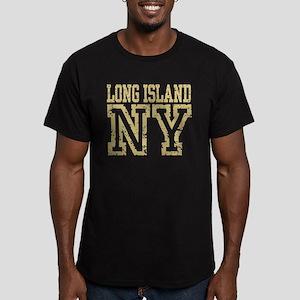 Long Island NY Men's Fitted T-Shirt (dark)
