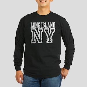 Long Island NY Long Sleeve Dark T-Shirt