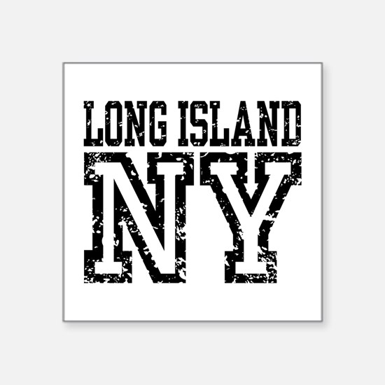 "Long Island NY Square Sticker 3"" x 3"""