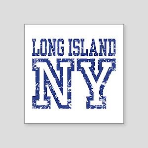 """Long Island NY Square Sticker 3"""" x 3"""""""