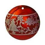Red Christmas Ornament Round Ornament
