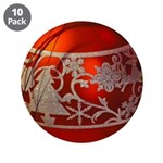 Red Christmas Ornament 3.5