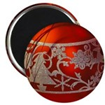 Red Christmas Ornament Magnets