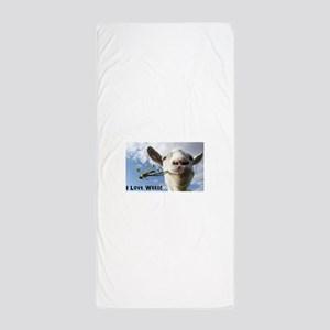 Weed Goat Beach Towel