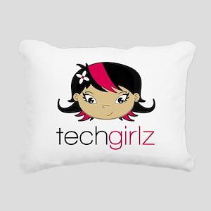 TechGirlz Rectangular Canvas Pillow