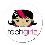 TechGirlz Round Car Magnet