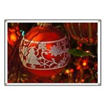 Red Christmas Ornament Banner