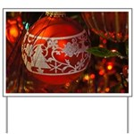 Red Christmas Ornament Yard Sign