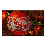 Red Christmas Ornament Sticker
