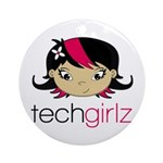TechGirlz Round Ornament
