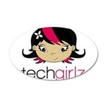 Techgirlz 20x12 Oval Wall Decal