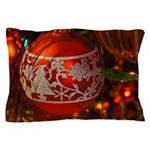 Red Christmas Ornament Pillow Case