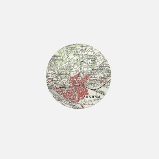 Vintage Map of Arnhem and Surrounding Mini Button