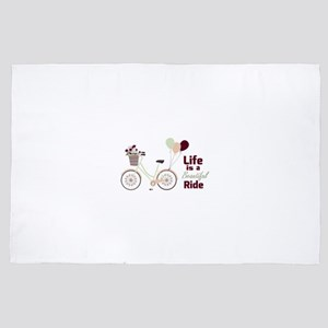 Life is a beautiful ride 4' x 6' Rug
