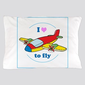 I Heart to Fly Pillow Case