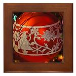 Red Christmas Ornament Framed Tile
