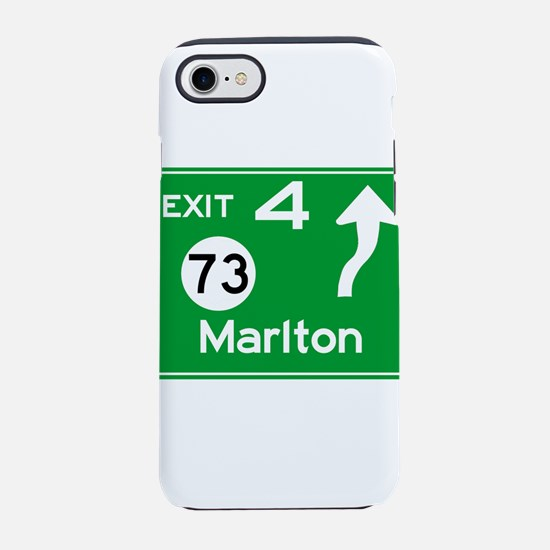 NJTP Logo-free Exit 4 Marlto iPhone 8/7 Tough Case