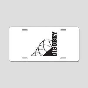 Disobey Aluminum License Plate