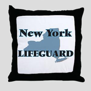 New York Lifeguard Throw Pillow