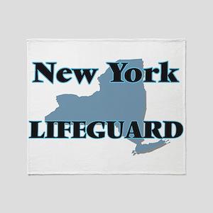 New York Lifeguard Throw Blanket