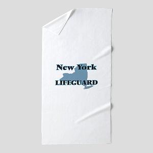 New York Lifeguard Beach Towel