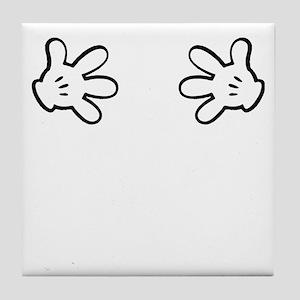 Mickey hands Tile Coaster