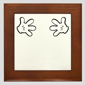 Mickey hands Framed Tile