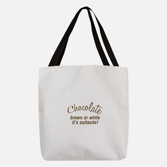FIN-chocolate-outtasite-CROP.pn Polyester Tote Bag
