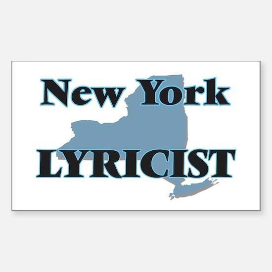 New York Lyricist Decal