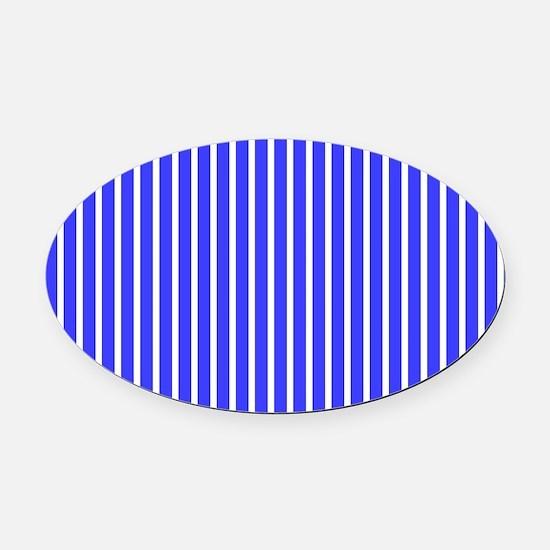 Vibrant Royal Blue Beach Feeling S Oval Car Magnet