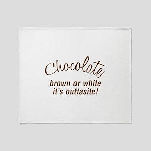 FIN-chocolate-outtasite-CROP Throw Blanket