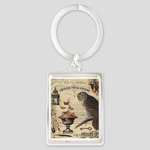 Modern Vintage Halloween Owl Keychains