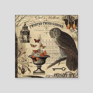 Modern Vintage Halloween Owl Sticker