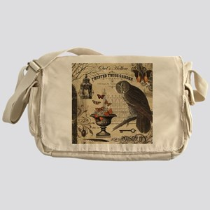 Modern Vintage Halloween Owl Messenger Bag
