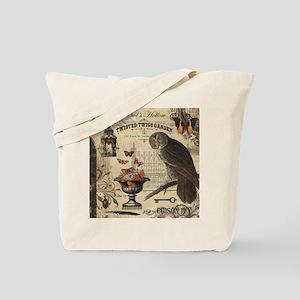 Modern Vintage Halloween Owl Tote Bag
