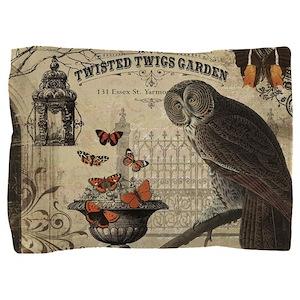 Modern Vintage Halloween Owl Pillow Sham