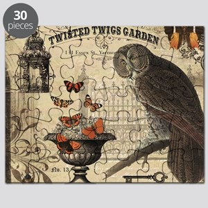 Modern Vintage Halloween Owl Puzzle