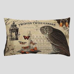 Modern Vintage Halloween Owl Pillow Case