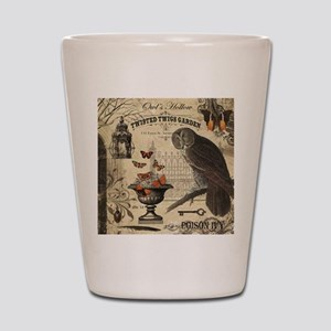 Modern Vintage Halloween Owl Shot Glass