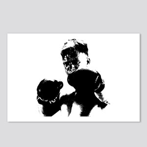 athlete boxing Postcards (Package of 8)