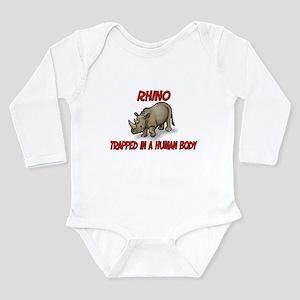 Rhino trapped in a human body Infant Bodysuit Body