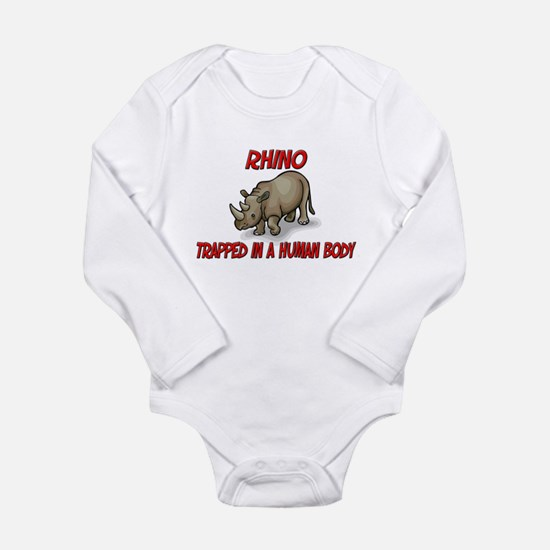Rhino trapped in a human body Infant Bodysuit Body