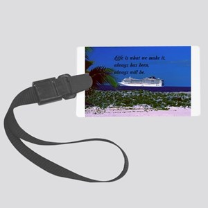 Chart You Course Large Luggage Tag