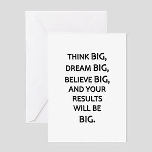 Think Big Dream Big Greeting Card