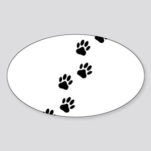 Cartoon Dog Paw Track Sticker
