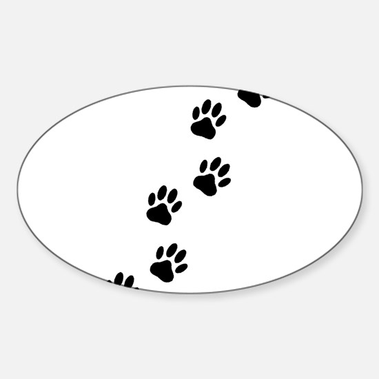 Cartoon Dog Paw Track Decal
